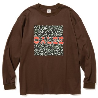 CALEE キャリー Up cycle calee logo drop shoulder L/S t-shirt<Brown><img class='new_mark_img2' src='https://img.shop-pro.jp/img/new/icons14.gif' style='border:none;display:inline;margin:0px;padding:0px;width:auto;' />
