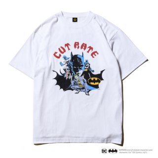 CUTRATE カットレイト 「BATMAN & JOKER」 CR T-SHIRT<WHITE><img class='new_mark_img2' src='https://img.shop-pro.jp/img/new/icons14.gif' style='border:none;display:inline;margin:0px;padding:0px;width:auto;' />