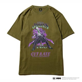 CUTRATE カットレイト「THE JOKER」 CR T-SHIRT<OLIVE><img class='new_mark_img2' src='https://img.shop-pro.jp/img/new/icons14.gif' style='border:none;display:inline;margin:0px;padding:0px;width:auto;' />