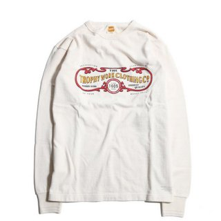 TROPHY CLOTHING トロフィークロージング 15TH WORK LOGO OD L/S TEE<NATURAL><img class='new_mark_img2' src='https://img.shop-pro.jp/img/new/icons14.gif' style='border:none;display:inline;margin:0px;padding:0px;width:auto;' />