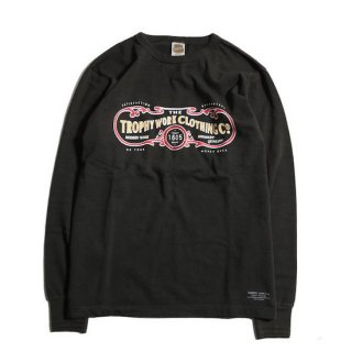TROPHY CLOTHING トロフィークロージング 15TH WORK LOGO OD L/S TEE<GUN BLACK><img class='new_mark_img2' src='https://img.shop-pro.jp/img/new/icons14.gif' style='border:none;display:inline;margin:0px;padding:0px;width:auto;' />