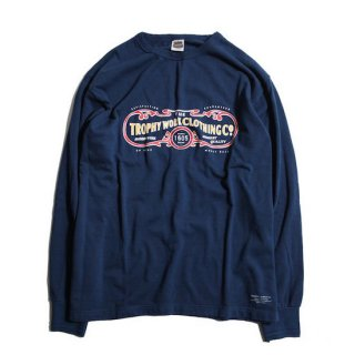 TROPHY CLOTHING トロフィークロージング 15TH WORK LOGO OD L/S TEE<INDIGO><img class='new_mark_img2' src='https://img.shop-pro.jp/img/new/icons14.gif' style='border:none;display:inline;margin:0px;padding:0px;width:auto;' />