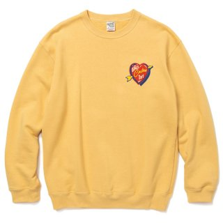 CALEE キャリー Shoot me down crew neck sweat<Mustard><img class='new_mark_img2' src='https://img.shop-pro.jp/img/new/icons14.gif' style='border:none;display:inline;margin:0px;padding:0px;width:auto;' />