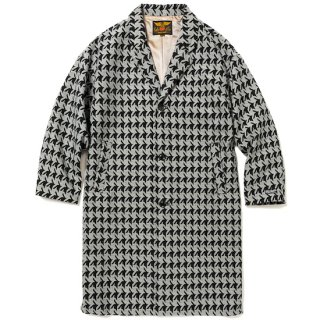 CALEE キャリー Hound tooth pattern chester coat<Black/White><img class='new_mark_img2' src='https://img.shop-pro.jp/img/new/icons14.gif' style='border:none;display:inline;margin:0px;padding:0px;width:auto;' />