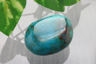 【ペルー産】クリソコラ 原石 12.7g お守り石 タンブル