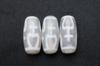 約20mm 老玉髄白天珠【宝瓶天珠】1個 幸運が湧き出る瓶