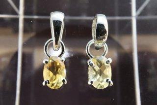 シトリン ペンダントトップ   1個 高品質宝石キラキラカット 11月誕生石 sillver925使用