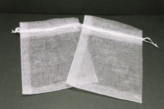 50枚入り【11cm×8cm】オーガンジーポーチ 1枚(ホワイト)ブレスレット用小袋