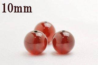 高品質【10mm】AAAA オレンジガーネット(ヘソナイト) 1粒売り バラ売り ビーズ(穴あき)激安