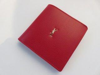 大人気‼ イヴサンローラン YSLロゴ 二つ折り財布