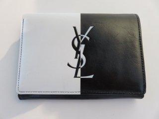 イヴサンローラン バイカラー ロゴ 財布