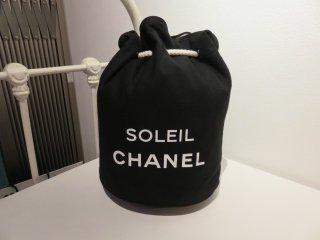 程度極上品‼ シャネル 巾着 ロゴ ショルダー キャンバス バッグ
