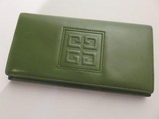 希少色‼ ヴィンテージ GIVENCHY ロゴ がま口長財布