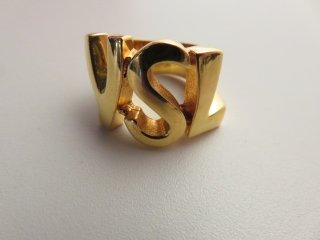 レア‼ イヴサンローラン ゴールド ロゴ リング