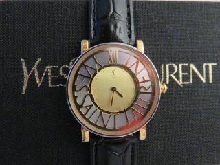デッドストック‼ イヴサンローラン ゴールドサークルロゴ時計