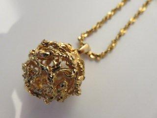 レア‼ イヴサンローラン ボール型 ロング ネックレス 美品