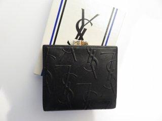 イブサンローラン がま口 ロゴ レザー 二つ折り財布 生産中止モデル