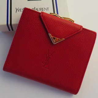 ヴィンテージ イヴサンローラン がま口二つ折り財布