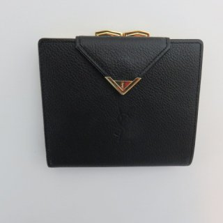 Yves Saint Laurent がま口二つ折り財布