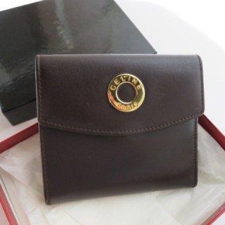 CELINE ゴールド ロゴ コンパクト二つ折り財布