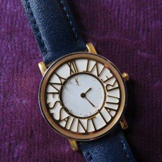 Yves Saint Laurent ロゴ サークル ヴィンテージ 時計