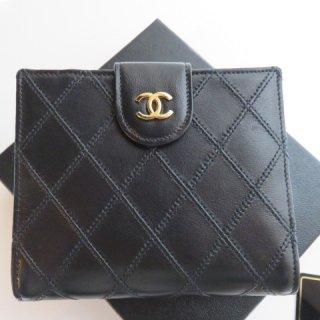 CHANEL ココマーク ビコローレ キルティングレザー二つ折り財布