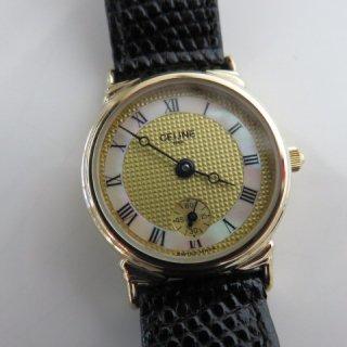 CELINE セリーヌ シェル文字盤 ヴィンテージ ウォッチ 時計