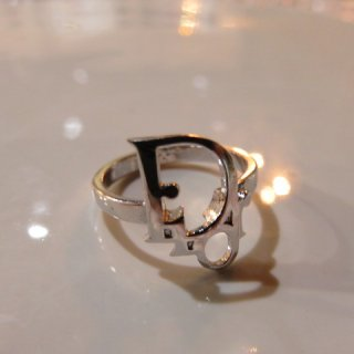 Christian Dior 希少 クリスチャンディオール ロゴ リング 指輪