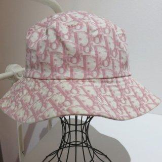 Christian Dior クリスチャンディオール ハット 帽子 トロッター ピンク 58
