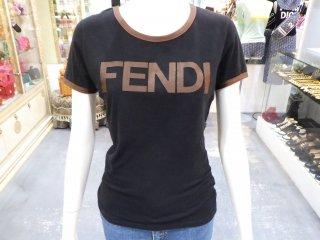 FENDI フェンディロゴリンガー Tシャツ ヴィンテージ