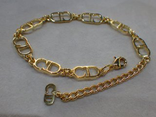 Christian Dior クリスチャンディオール CDロゴ ブレスレット ゴールド