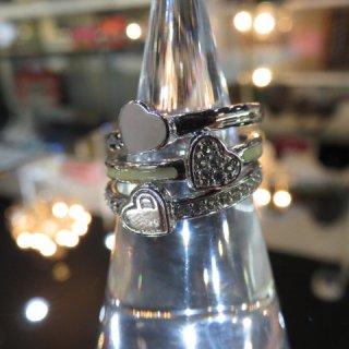 Dior 三連リング 指輪 ミニハートモチーフリング