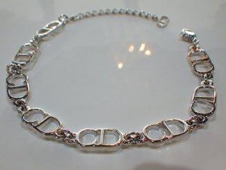 Christian Dior クリスチャンディオール CDロゴ ブレスレット シルバーカラー
