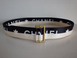 CHANEL ヴィンテージシャネル ゴールドバックル ロゴ ベルト