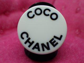 CHANEL ヴィンテージシャネル ロゴ プラ リング 指輪