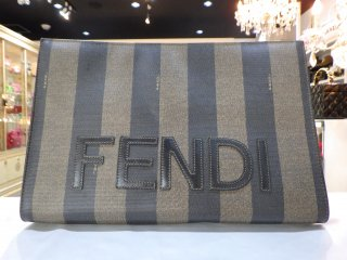FENDI ヴィンテージ フェンディ ロゴ ペカン柄 クラッチバック