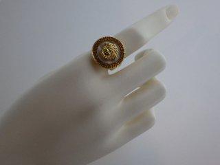 GIANNI VERSACE ヴィンテージ ベルサーチ メデューサ ゴールド リング 指輪