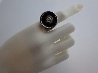 GIANNI VERSACE ヴィンテージ ベルサーチ メデューサ シルバーカラー リング 指輪