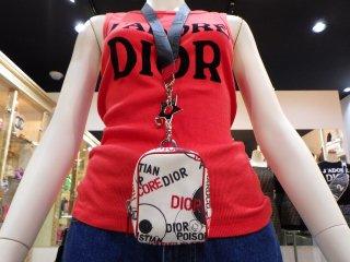 Christian Dior ヴィンテージ ディオール ロゴ ネックストラップ ポシェット