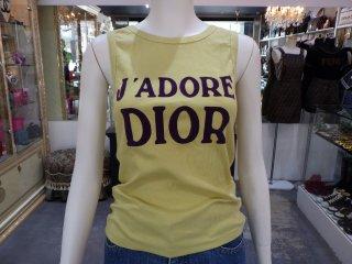 Christian Dior クリスチャンディオール J'A DORE DIOR ロゴ タンクトップ