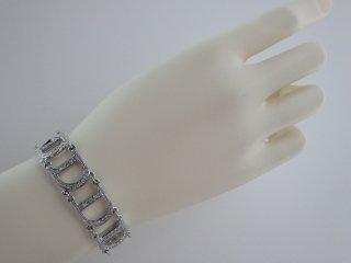 希少 Christian Dior ヴィンテージ ディオール Diorロゴ ラインストーン シルバーカラー ブレスレット