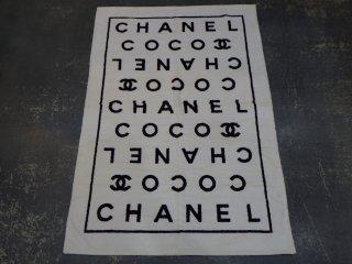 VINTAGE CHANEL ヴィンテージ シャネル ココマーク ロゴ ビーチタオル ホワイト