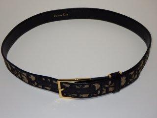 Christian Dior クリスチャンディオール トロッター ゴールドバックル ベルト