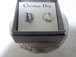 Christian Dior ヴィンテージ ディオール Diorロゴ  ピアス