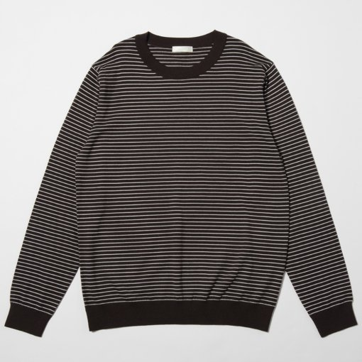 Pinstripe Crew Neck Sweater