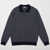 Pinstripe Polo Sweater