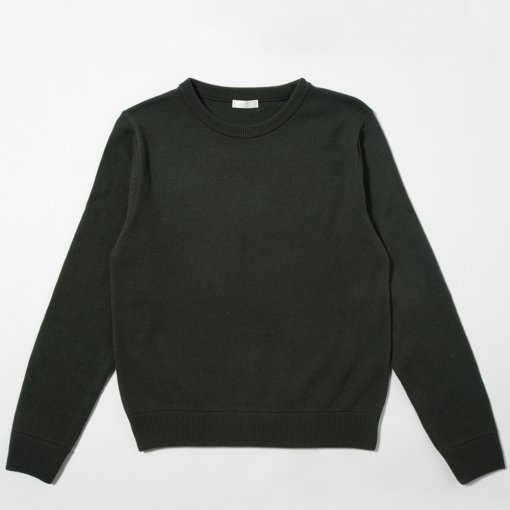 Wool Cashmere Elbow Patch Sweater