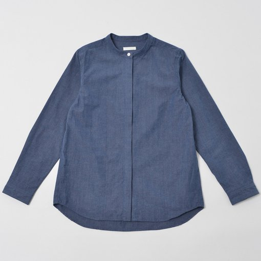 Dungaree Stand Collar Shirt