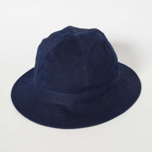 Indigo Dye Cotton Linen Hat