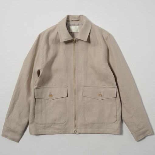 Irish Linen Zip-up Jacket
